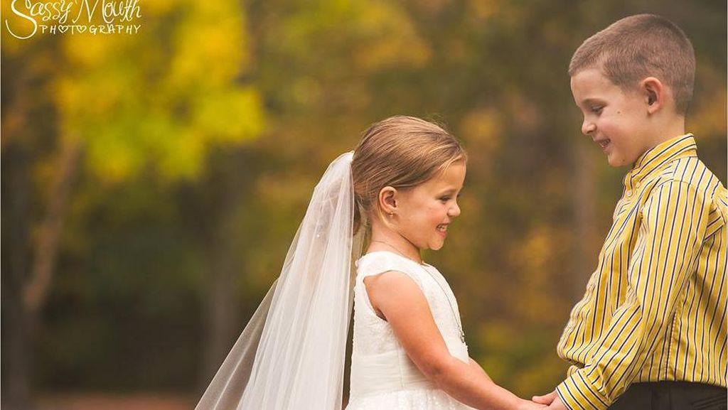 Harunya Wedding Photoshoot Bocah 5 Tahun dengan Cacat Jantung Bawaan