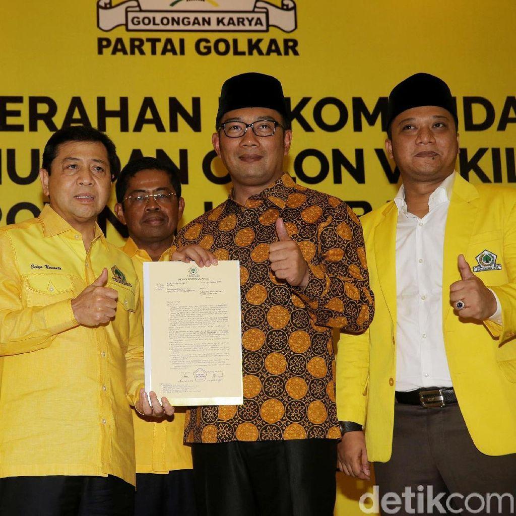 Novanto Ditahan, Ridwan Kamil Tetap Yakin Dapat Dukungan Golkar