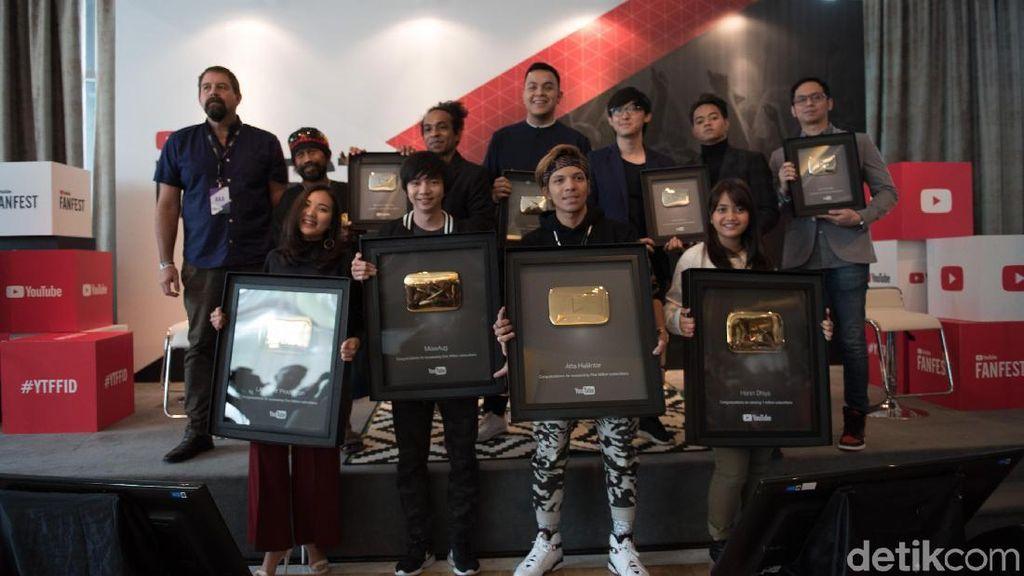 YouTuber Lokal Peraih Golden Button Kini Tak Cuma Raditya Dika