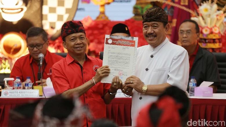PDIP Usung I Wayan Koster-Cok Ace untuk Pilgub Bali