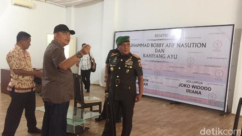 Pangdam Cek Lokasi Pernikahan Kahiyang-Bobby di Medan