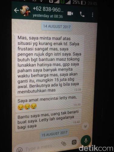 Pesan dari dr Helmi kepada Ferry (Adik dr Letty)/