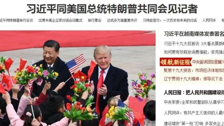Pemberitaan Kunjungan Trump oleh Media China Dibanding Media Barat