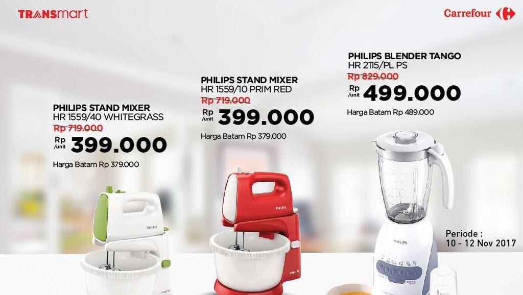 Harga Istimewa Mixer hingga Dispenser di Transmart Carrefour