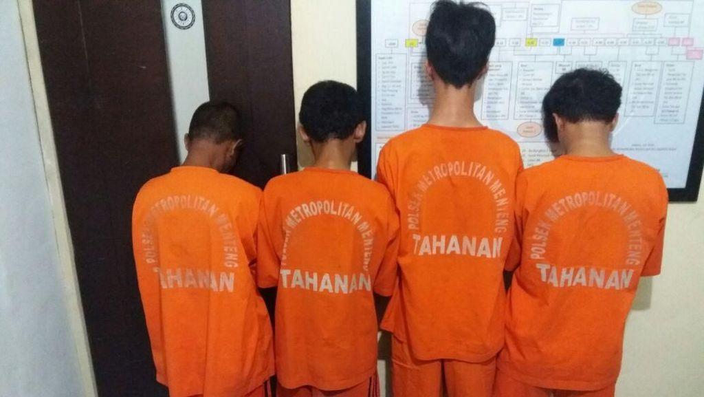 Patroli Antisipasi Tawuran, Polisi Tangkap 4 Bandar di Menteng