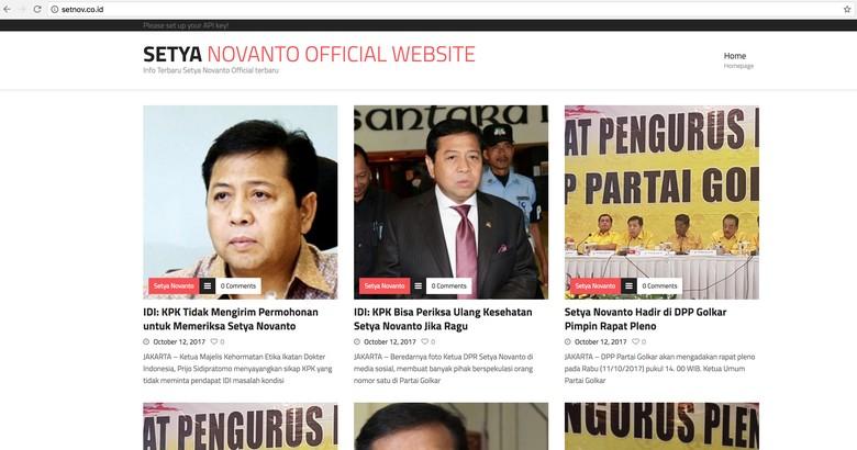 Sempat Diretas, Situs Pribadi Novanto Kembali Bisa Diakses