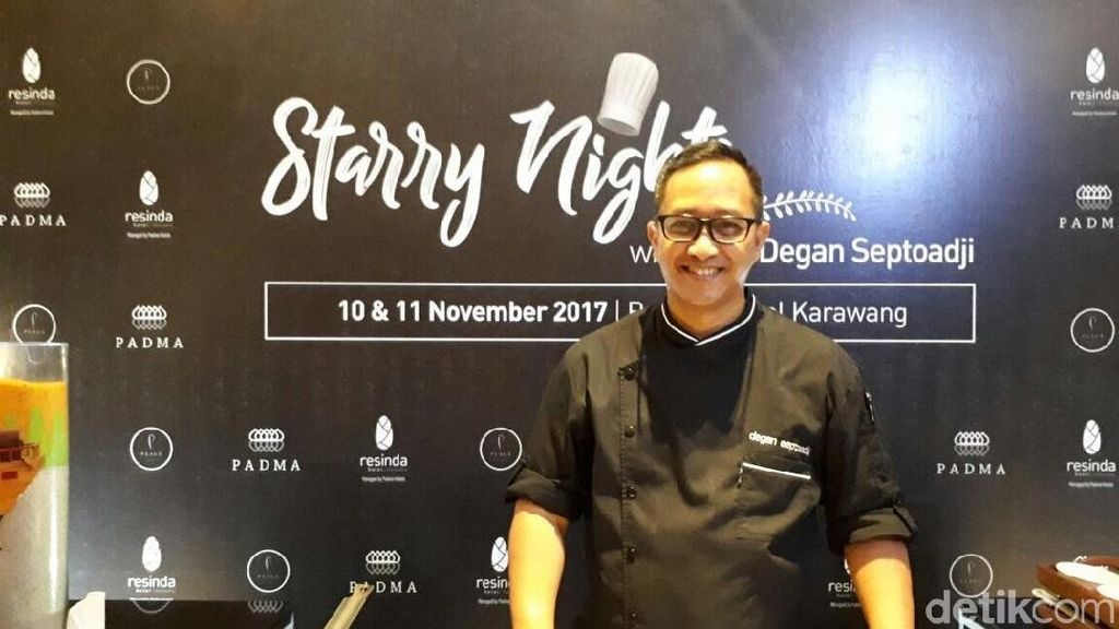 Di Starry Nights, Chef Degan Sajikan Salmon Lodeh dan Sapi Bumbu Rawon