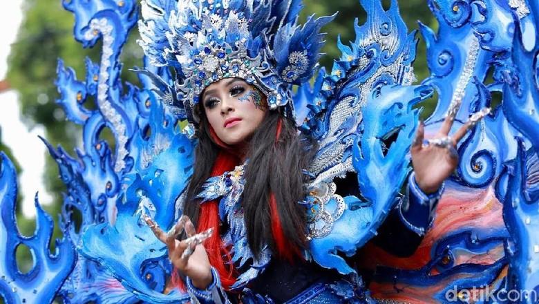 Peserta Banyuwangi Ethno Carnival (Putri Akmal/detikTravel)