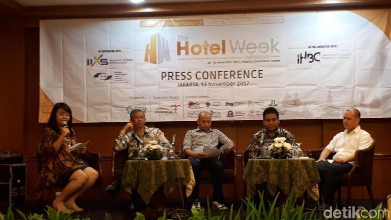 Suasana launching The Hotel Week Indonesia (Randy/detikTravel)