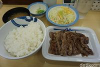 Satu set menu Matsuya (Wahyu/detikTravel)