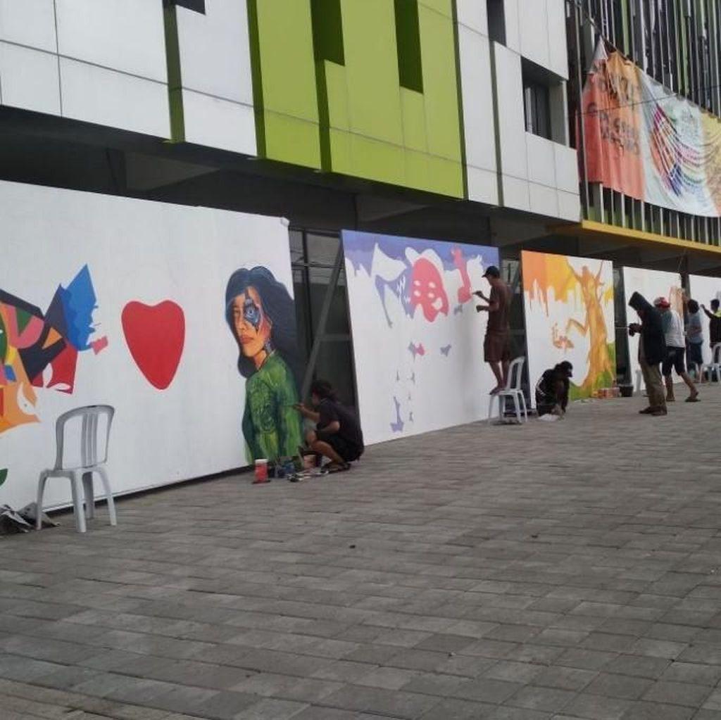 Puluhan Pelukis Mural Beradu Karya di Street Art Competition