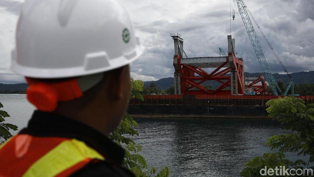 Foto: Penampakan Terkini Progres Pembangunan Jembatan Holtekamp