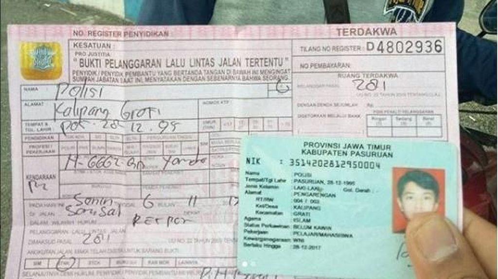 Polisi Ditilang Karena Tak Punya SIM, Kok Bisa?
