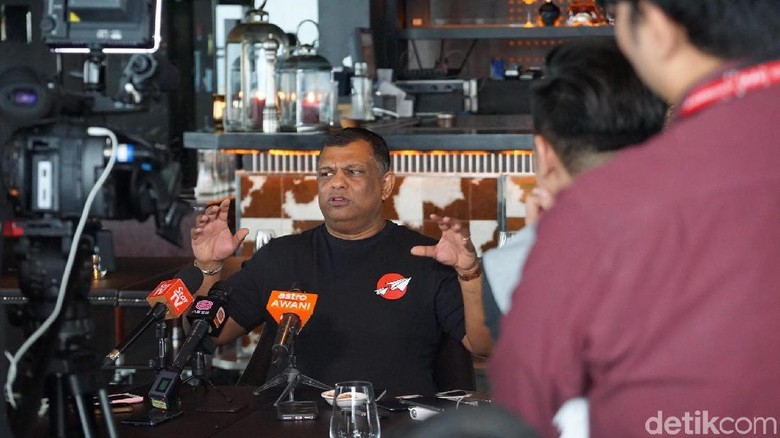 Tony Fernandes, CEO AirAsia (Masaul/detikTravel)