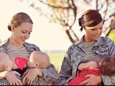 Menyusui dengan seragam militer lengkap. Kenapa nggak? (Foto: Brynja Sigurdadottir Photography via BabyCenter)