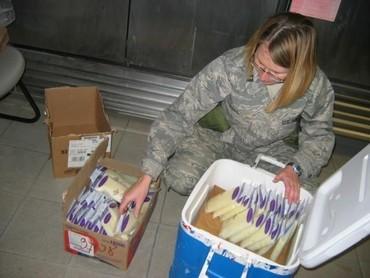Mayor Ginger Bohl dari AD Air Force menyetok ASI dari Afghanistan untuk dikirimkan ke sang buah hati. (Foto: BabyCenter Blog)