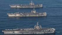 Korut Sebut AS Mengacau karena Kerahkan 3 Kapal Induk