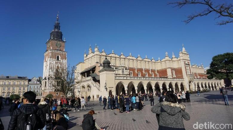 Foto: Kawasan Kota Tua Krakow di Polandia (Odilia/detikTravel)