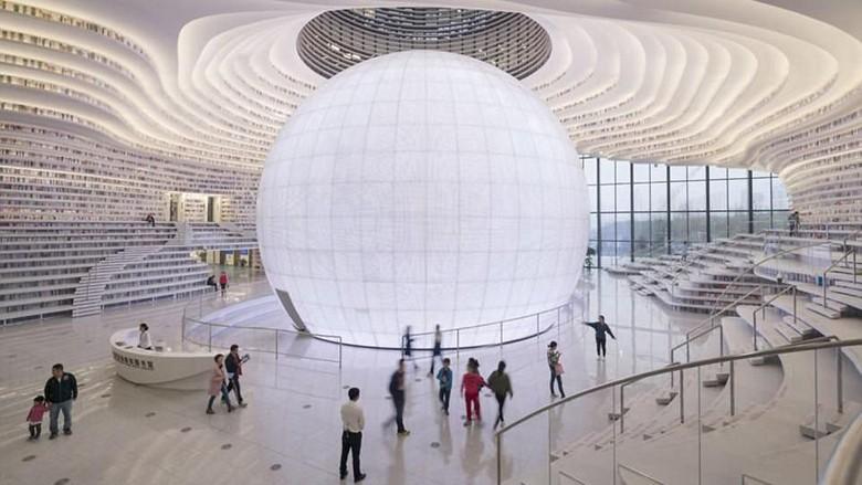 The Tianjin Binhai Public Library di China (dok MVRDV)