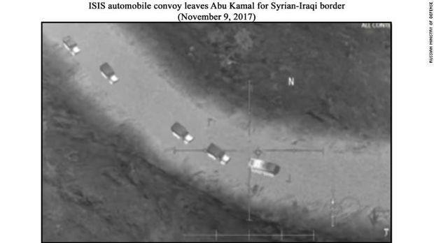 Bukti foto yang dirilis Kementerian Pertahanan Rusia