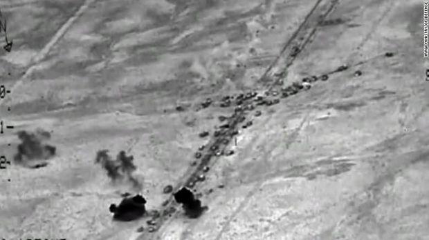 Screenshot video dari militer Irak saat menyerang ISIS di Fallujah tahun 2016