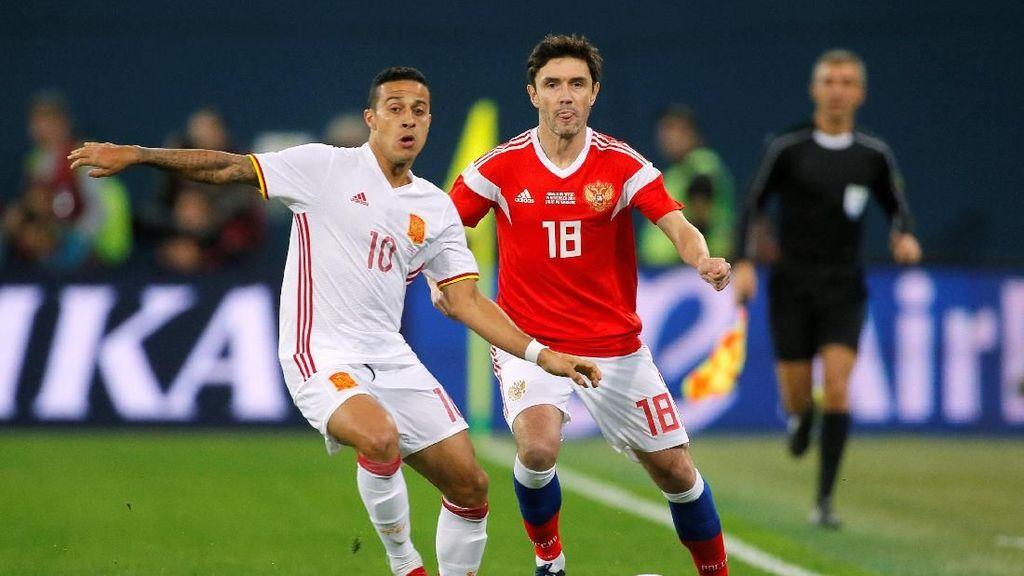 Sempat Unggul Dua Gol, Spanyol Diimbangi Rusia 3-3