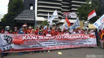 Buruh Kota Semarang Tuntut Upah Rp 2,7 Juta