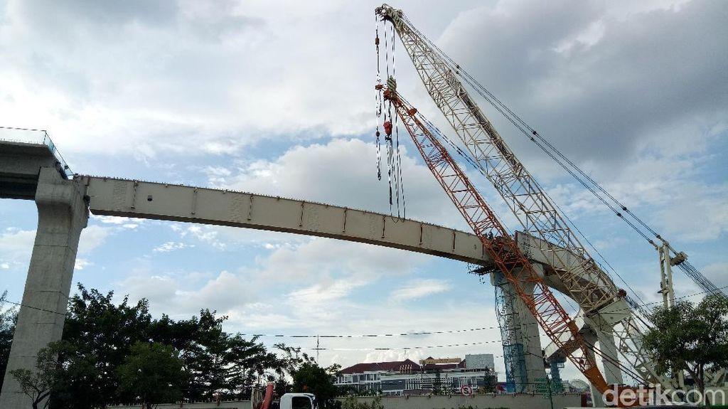 Musim Hujan, Proyek LRT Palembang Tetap Dikebut