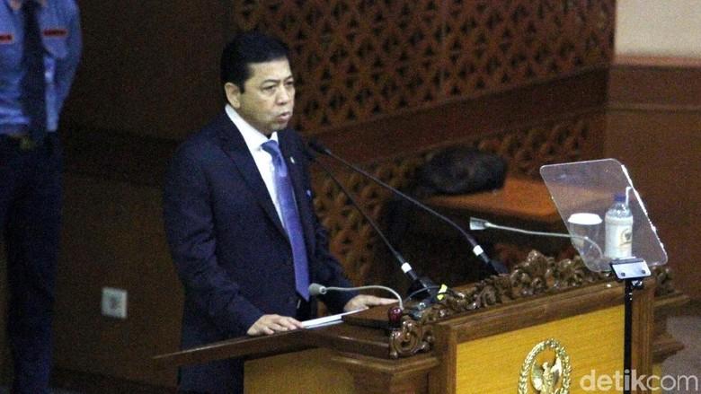 Tak Penuhi Panggilan KPK, Novanto Hadir di Paripurna DPR