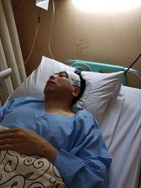 Novanto saat dirawat di RS Medika.