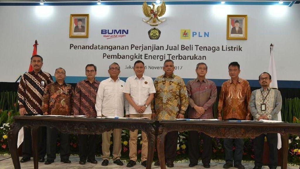 PLN dan Swasta Teken Kontrak Listrik Energi Terbarukan 640 MW