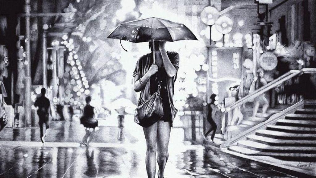 Lukisan Mirip Jepretan Kamera Ini Hasil Coretan Pulpen