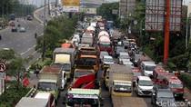 Rambu VMS Roboh, Jalan Protokol Kota Bekasi Macet