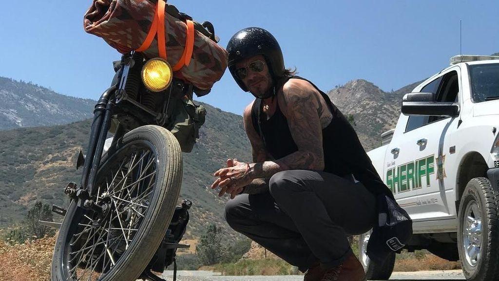 David Beckham: Dulu Pesepakbola, Kini Biker