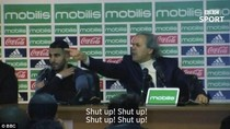Marah-marah ke Jurnalis, Pelatih Aljazair: Diam! Diam! Diam!