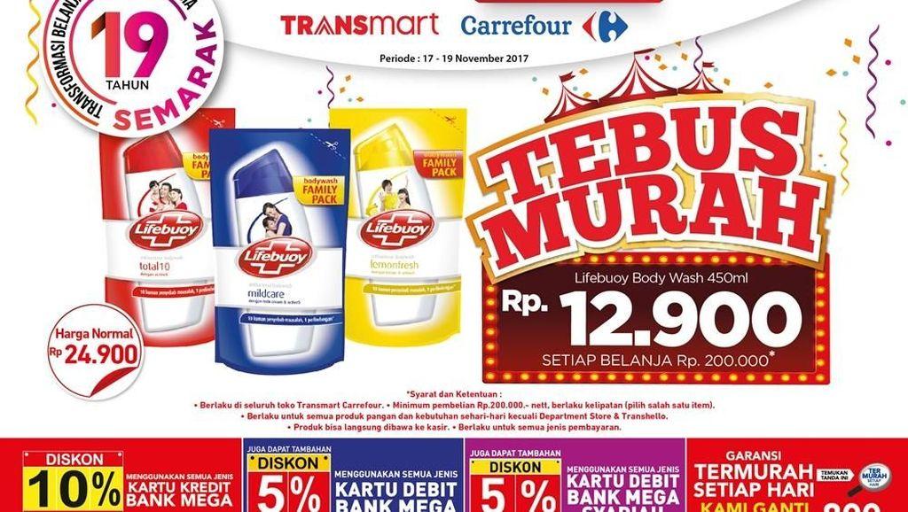 Tebus Murah Detergen atau Sabun Mandi di Transmart Carrefour