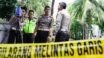 Polisi Olah TKP Kecelakaan Mobil Setya Novanto