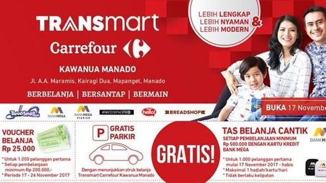 MEGA Promo 3 Hari di Transmart Carrefour Grand Kawanua Manado