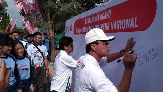 Gowes Pesona Nusantara Kini Sambangi Ngawi