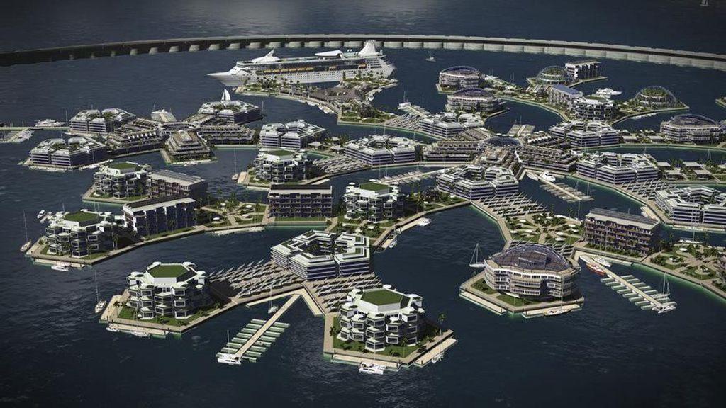 Keren! Rancangan Kota Mengapung Pertama di Dunia