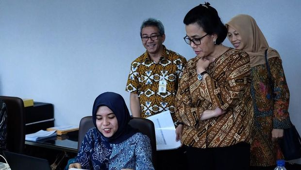 Sri Mulyani Tinjau Calon Penerusnya di Kementerian Keuangan