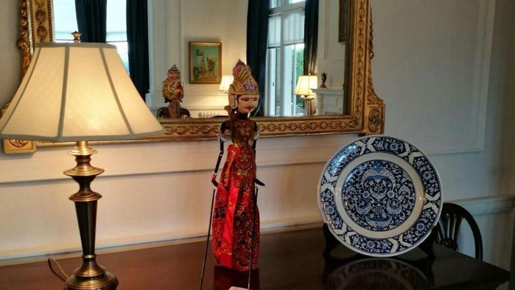 Wayang Prabu Kresna di Istana Gubernur Jenderal Selandia Baru
