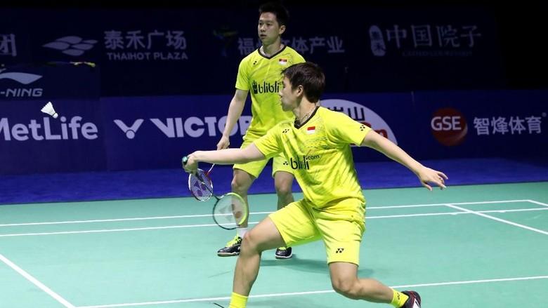 Foto: Kevin/Marcus Bawa Pulang Gelar Juara dari China