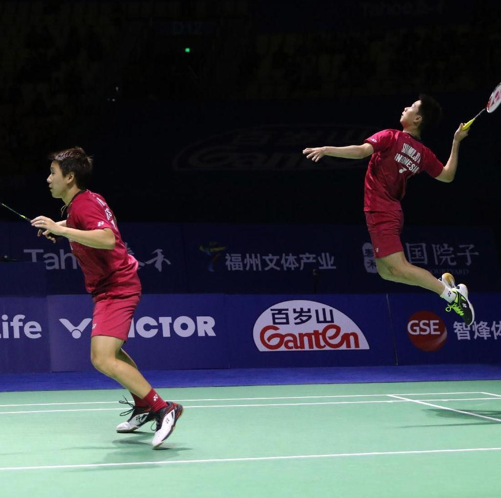 Kemenangan atas Boe/Mogensen di Jepang Tak buat Kevin/Marcus Jemawa