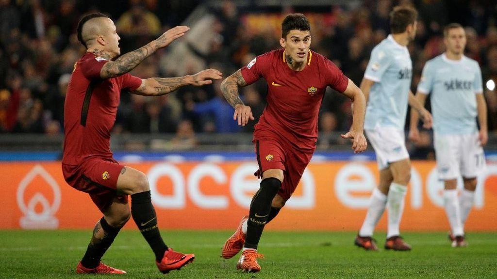 Gol Perotti dan Nainggolan Bawa Roma Kalahkan Lazio