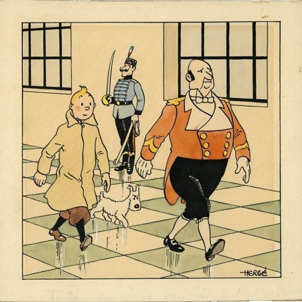 Wow! Gambar Komik Tintin dan Si Anjing Snowy Laku Dilelang Rp 8 M