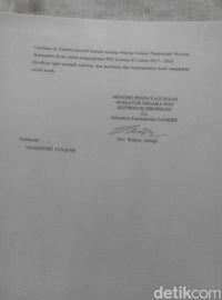 Penampakan Surat Palsu Pengangkatan CPNS Pegawai Honorer
