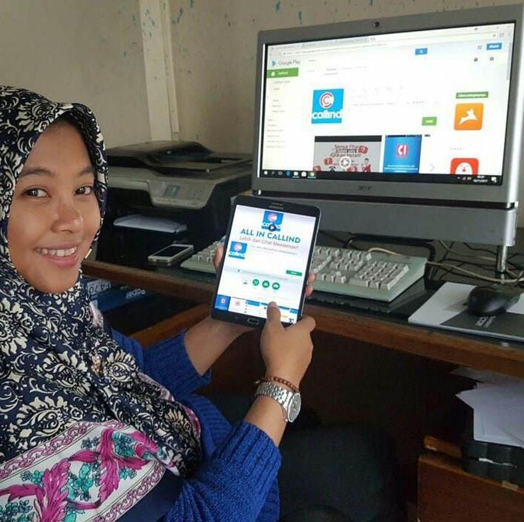 Ini Novi Wahyuningsih, Gadis Pembuat Aplikasi Callind