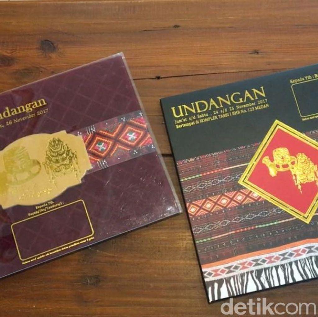 5 Ribu Undangan Dicetak untuk Acara Adat dan Resepsi Kahiyang di Medan