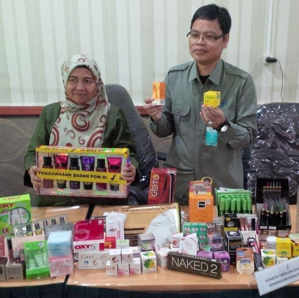 Ribuan Kosmetik Ilegal Diamankan di Pekanbaru